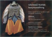 Inbjudan till pressvisning av kostymutställningen i BerättarLadan, Sunne