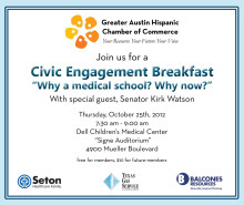 Kirk Watson Among Other Key Decision Makers to Discuss What Prop 1 Means To Hispanics in Central Texas