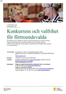 Inbjudan 24 maj 2011