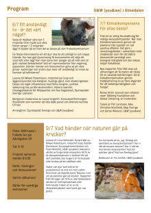 Program för U&W [you&we]'s frukostar i Almedalen