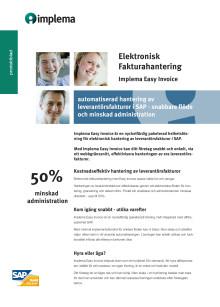 Elektronisk fakturahantering i SAP - Implema Easy Invoice