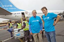 Norwegianin matkustajat lahjoittavat yli puoli miljoonaa Norjan kruunua UNICEFille