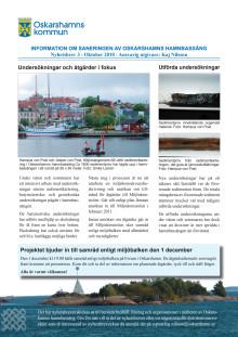 Nyhetsbrev 3 för sanering av Oskarshamns hamnbassäng