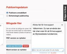 Mynewsdesk kundservice tipsar om populär supportfunktion