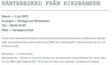 Almega och Riksbanken kommenterar räntebeskedet