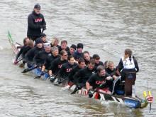 Drakbåtar deltar i Dalsland Kanot Maraton+