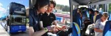 Pressvisning av Stockholms nya dubbeldäckare med internet ombord
