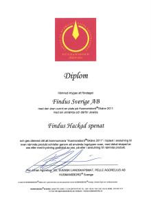 Diplom Husmansbord Skåne 2011 - Findus hackad spenat
