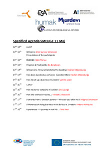 SMEDGE May 2011 Specified Agenda
