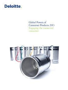 Kansainvälinen Global Powers of Consumer Products 2013 -raportti