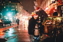 Julölspremiär i Stockholm med häst och vagn