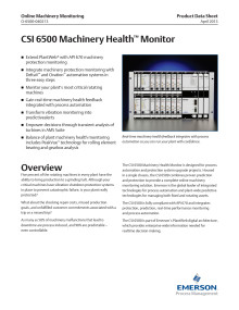 CSI 6500 Machinery Health™ Monitor online vibrationssystem