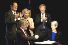 Svensk-amerikanskt samarbete i Arktis med isbrytaren Oden