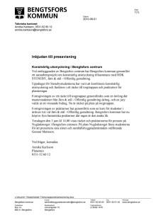 pressvisning av Bengtsfors centrum