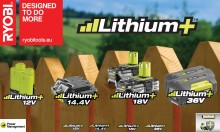 RYOBI® introducerer Lithium+ batteriteknologien