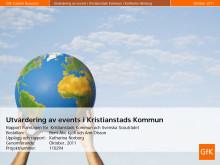 Utvärdering av events i Kristianstads kommun