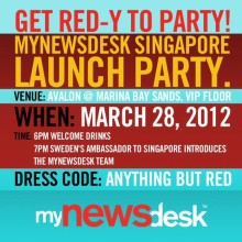Mynewsdesk Singapore VIP Launch Party!