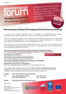 Program Evenemangsforum 29 nov 2012