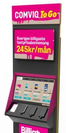 Mobiltelefoner med abonnemang på Pressbyrån!