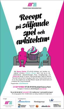 Morgonsoffan 23/9 Recept på säljande spel och arkitektur