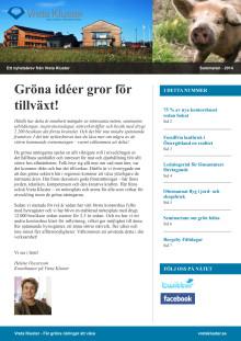 Nyhetsbrev från Vreta Kluster sommaren 2014
