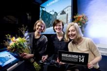 PLÅTPRISET 2014 till Marge Arkitekter för kopparpaviljongerna på Strömkajen