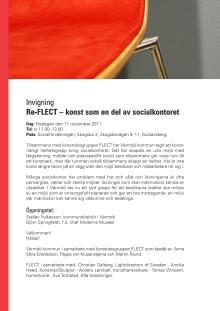 Inbjudan: Invigning Re-FLECT – konst som en del av socialkontoret