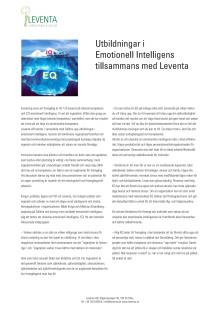 Artikel om utbildningar i Emotionell Intelligens för ingenjörer och tekniker med Sällma och Leventa
