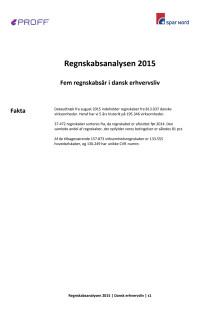 Dansk erhvervsliv - Regnskabsanalysen 2015 - total - update september