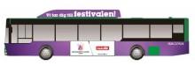 Melodifestivalstämning på bussen till Malmö Arena