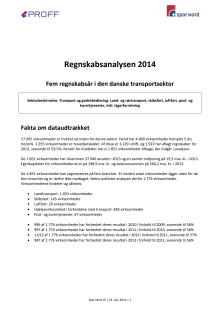 Regnskabsanalysen 2014 - 5 år i den danske transportsektor