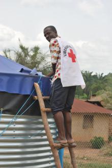 Theresia Lyshöj-Landiech möter flyktingar i Liberia