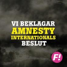 Fi beklagar Amnesty Internationals beslut om att stötta legalisering av sexköp, bordeller och hallickar