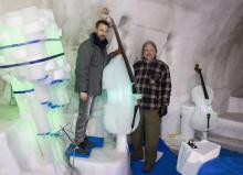 Mäter akustik vid Ice Music