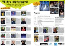 Program och information om nominerade till Tibros idrottsfestival den 4 april 2014