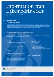 Information från Läkemedelsverket nr 3 2013