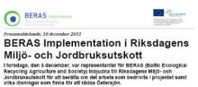BERAS Implementation i Riksdagens Miljö- och Jordbruksutskott