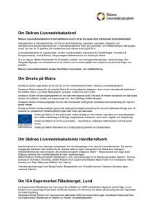 """Fakta om aktörerna i butikskonceptet """"Smaka på Skåne"""""""