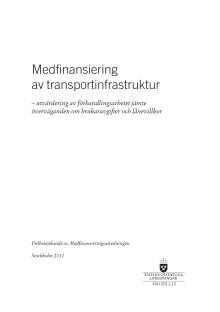 Delbetänkande medfinansiering