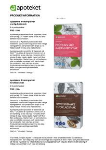 Produktinformation Apotekets viktprodukter