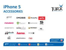 Tura Scandinavias sortiment av iPhone 5 tillbehör 120913