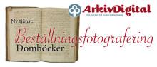 Ny tjänst: Beställningsfotografering av domböcker