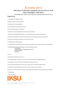 Kallelse och Dagordning IKSU:s årsmöte 2012
