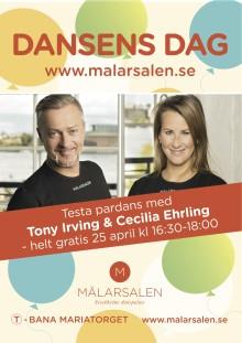Testa pardans gratis med Tony Irving och Cecilia Ehrling 25 april