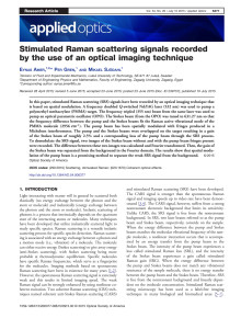 Unik metod spårar cancer/Stimulated Raman scattering signals recorded by the use of an optical imaging technique