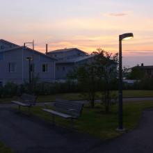 Fox Design har levererat utomhusbelysning till Ljungs äldreboende på Värmdö.