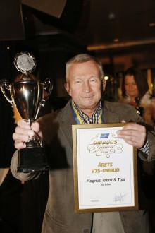Magnus Tobak & Tips i Karlstad blev Årets V75-ombud