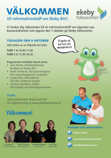 Informationsträff om Ekeby BVC den 9 oktober.