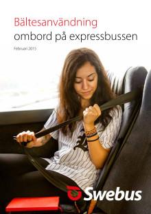 Bältesanvändning ombord på expressbussen 2015