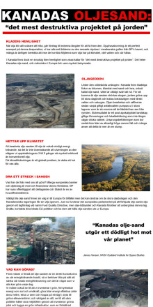 """""""Det mest destruktiva projektet på jorden"""" - Kanadas oljesand"""